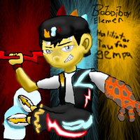 boboiboy elemen, unsur in muro canvas by shadmart