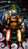Angels Await a man's death in the Electric Chair by ginseng