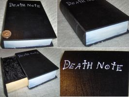 deathnote painted book-box by PockyaddictsTable