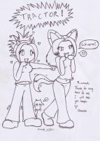 Rach and Fang Chibis by white-fang-demon