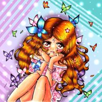 Me and Butterflys :D by LuciaAngelicUniverse