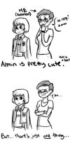snk comic1- my thoughts on armin's hair by Dudalen