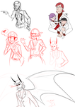 unfinished sketch dump by classydove