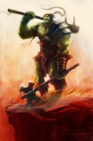 Brutish Orc by rodimus25