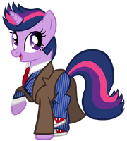 Twilight Sparkle as the 10th Doctor by SilverMapWolf