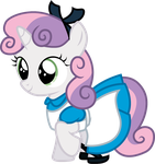 Sweetie Belle as Alice by CloudyGlow