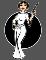 princess leia by AlanSchell
