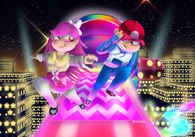 Art Trade: Taking a stroll on Rainbow Road by Goomuin