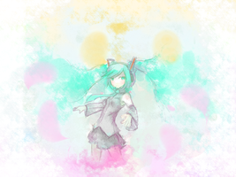 Miku again lol. by HamCrumbs