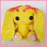 Yellow Strawberry Print PatterBunny by ChibiWorks
