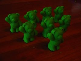 Play-doh bear army by googleaseerch