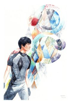 Yuzuru Hanyu Costumes Watercolor by Akoustam5