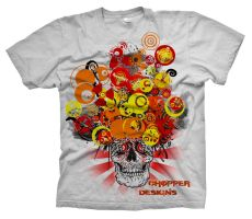 Grand-Ma-Skull Shirt by choppre