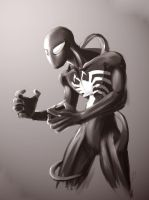 Spider-man in Black by B0sley by Marvelfans
