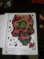 sketchbook skull by oldschool-sinner