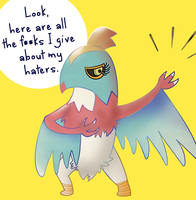 Leaked Pokemon Hawlucha by ice-cream-skies