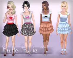 Elexis' Ruffle Truffle Dress ~ Customized by D3N1ZFTW