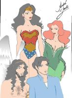 DC Characters by andreshanti