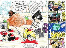 Naruto fun - Deidara's Lament by ravenwing136