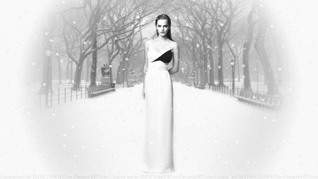 Emma Watson Snow Queen by Dave-Daring
