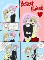 Crona and Maka Moment by Renyarra13