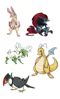 Pokemon Sketch Requests 1 by Sareii