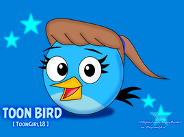 ~Art Trade~: Toon Bird[Birdsona] by MeganLovesAngryBirds