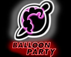 balloon party neon album cover by neonbronie