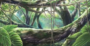 tropical forest of Borneo by Rando-chan