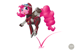 Pinkie the Terran Pony by sofas-and-quills