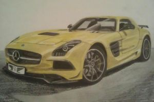 Mercedes SLS AMG black series by solarstorm9
