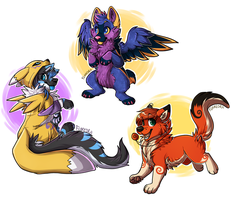 FA chibs by RupeeCat