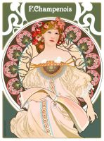 Tribute To Mucha - Art Nouveau by mangasprai