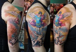 Angel Michael Tattoo by Moviemetal3
