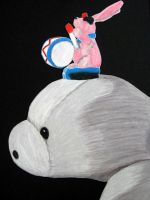 Riding the Manatee by WeaselTea