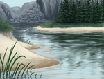Valley river by DoubletheU