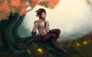 lonely faun. by KODAJED