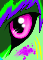 Jamie's Pink Eyeball c: by M0LTEN-R0SE