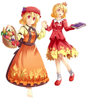 AWA Touhou Scroll Project: Aki Sisters by Banzatou