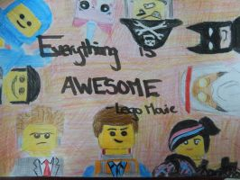 Everything is Awesome (Lego Movie) by saphira305