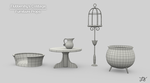 [WIP] Fluttershy's Cottage: Furniture (Wireframe) by discopears