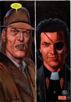 Preacher painting over Steve Dillon Saint And Jess by GlennFabry