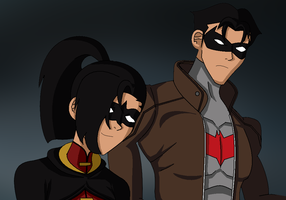 Robin and Red Hood by ITZELDRAG108