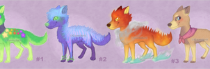 Wolf Adoptables (100 points each) by Gamibrii