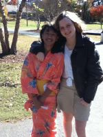 Fem!Japan and Fem!America at Hetalia day 2013 by southpony98