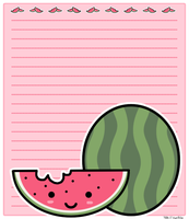 Another watermelon stationary by PinkNyu