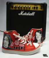 The White Stripes Chucks by Bobsmade