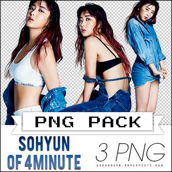 Renders' pack with Sohyun of 4MINUTE by yasonmink