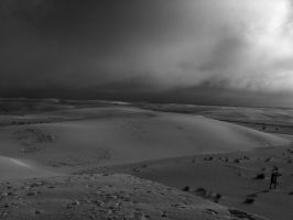 White Sands and oncoming rain by CorazondeDios