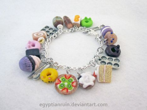 Baking Charm Bracelet by egyptianruin